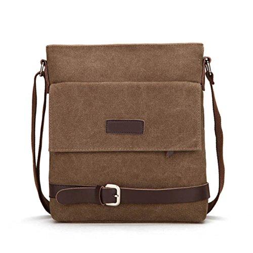 Canvas Messenger Shoulder Bag Satchel Bookbag Scuola Lavoro,D-OneSize