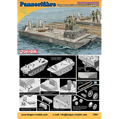 Dragon Models Panzerfahre Gepanzerte Landwasserschlepper Prototype Nr.II Tank Model Building Kit, 1:72 Scale: Toys & Games