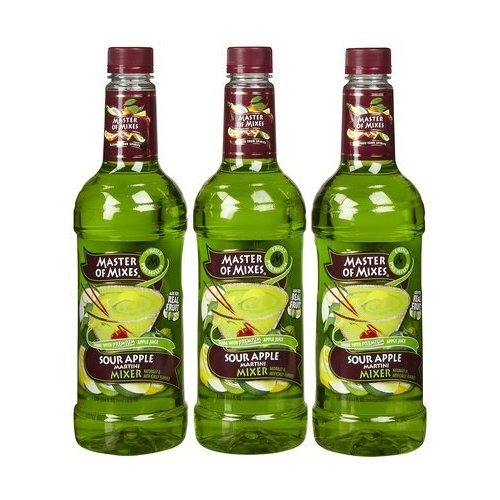 Master Martini Mix Sour Apple 33.8 FZ (Pack of 4) by Master of Mixes