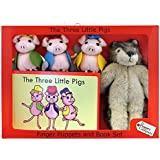 The Puppet Company - Traditional Story Sets - Three Little Pigs & Wolf Finger Puppet Set
