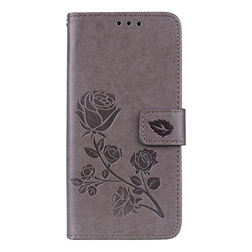 Torubia Samsung Galaxy S9 Case, Samsung Galaxy S9 Leather Wallet Case Book Design with Flip Cover and Stand [Credit Card Slot] Cover Case Replacement for Samsung Galaxy S9 - Grey
