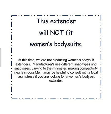 Onesie/Bodysuit Extenders Pack of 3, White, 3 Different Size Snaps