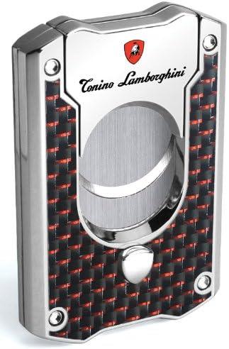 Tonino Lamborghini Les Mans Carbon Fiber Cigar Cutter, Red