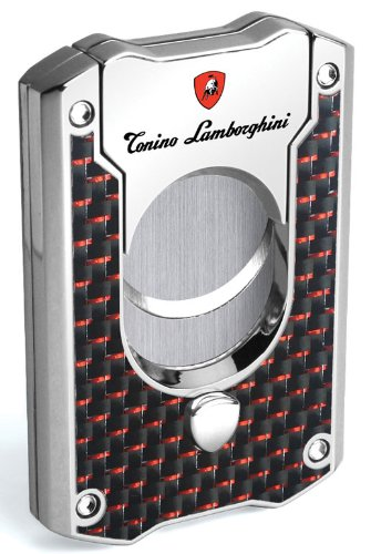Tonino Lamborghini Les Mans Carbon Fiber Cigar Cutter, Red by Tonino Lamborghini