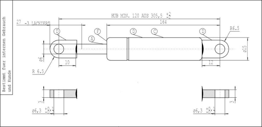 Stabilus 082597 Gas Spring