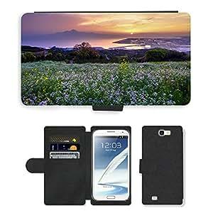 CARD POCKET BOOK CASE PU LEATHER CASE // M00421589 Cerro de los narcisista Japón Kumamoto // Samsung Galaxy Note 2 II N7100