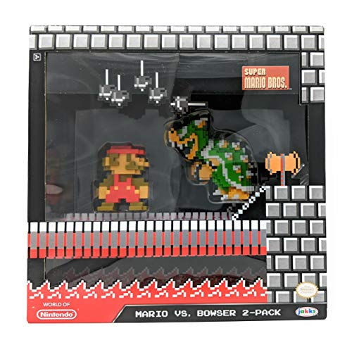 "World of Nintendo 2.5"" 8-Bit Classic Mario vs Bowser Action Figure 2-Pack"