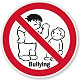 "No Bullying (with Graphic) Decal, 6"" x 6"""