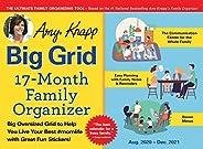 2021 Amy Knapp's Big Grid Family Organizer Wall Calendar: 17-Month Giant Fridge Calendar for Mom with 225+