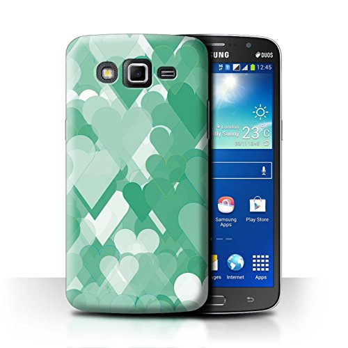 Hearts Grande Collection (STUFF4 Phone Case / Cover for Samsung Galaxy Grand 2/G7102 / Dream Hearts Design / Green Fashion Collection)
