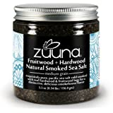 Pure Fruitwood + Hardwood Natural Smoked Sea Salt from ZUUNA® (Medium Grain) 5.5oz; 100% Natural, Gourmet Smoked Sea Salt