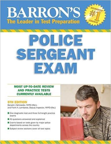 Barron's Police Sergeant Examination (Barron's How to Prepare for ...