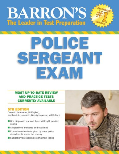 Barron's Police Sergeant Examination (Barrons Educational Series)