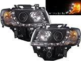 CrazyTheGod T4 Transporter/Eurovan/Caravelle 1998-2003 Projector Headlight DRL R8 LED BLACK VW VOLKSWAGEN LHD
