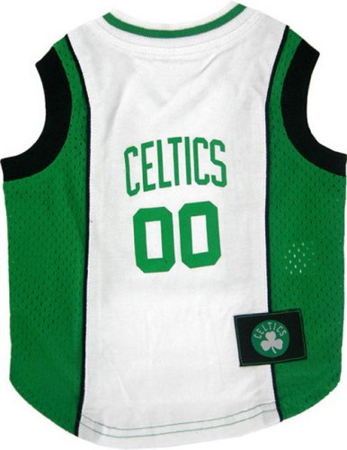 NBA Pet Mesh Tank Top, X-Small, Boston Celtics by Pets First