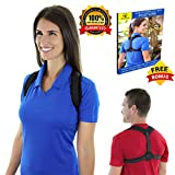 Posture Corrector for Women Men Kids - Comfortable and Effective Posture Brace for Upper Back pain, Slouching, Hunching -Posture Support For Medical Problems & Injury Rehab