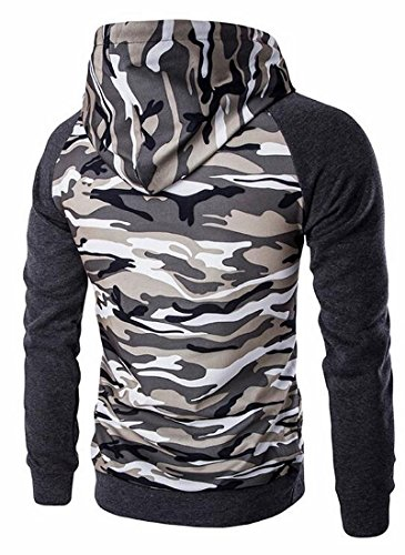 Hoodie today Slim Pullover UK Sleeve Men Raglan Sweatshirt 1 Camo Outwear SR6qwZSn