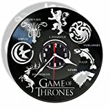 Rosidesignstudio Game of Thrones vinyl Wall Clock- Modern room decor-Unique Handmade gift for friends and someone you love