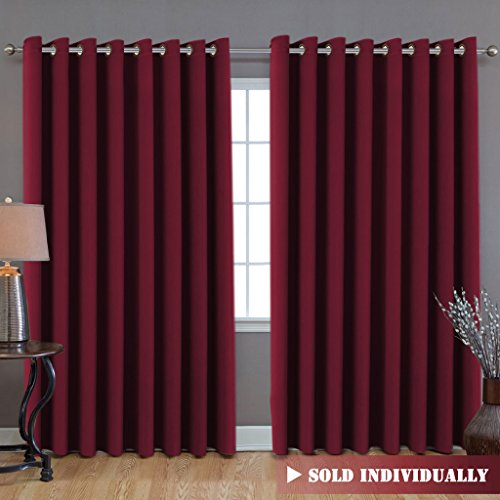 H.Versailtex Wide Width Thermal Insulated Blackout Curtain (100