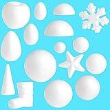 "Techinal 10 pcs Modelling Polystyrene Styrofoam Foam Ball DIY Craft Ball for Christmas Party Decoration Xmas Craft 2.36"" ( Apple )"