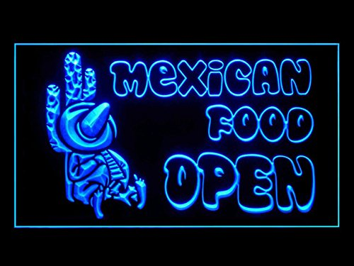 Mexican Food Snacks Restaurant Open Cafe Led Light Sign - Mexican Food Neon Sign