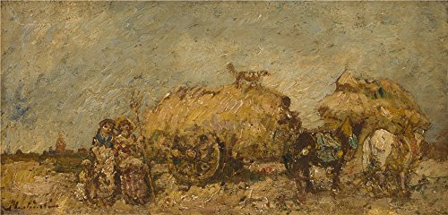 Oil Painting 'Adolphe Monticelli The Hayfield ' Printing On Perfect Effect Canvas , 18 X 38 Inch / 46 X 95 Cm ,the Best Bar Decoration And Home Decoration And Gifts Is This High Definition Art Decorative Prints On Canvas -