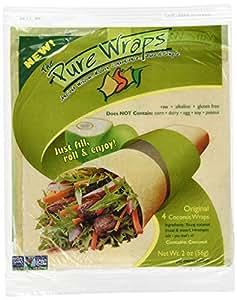 Pure Wraps, Paleo Coconut Wraps, Original Flavor, 8 Count (2 Packs of Four Wraps)