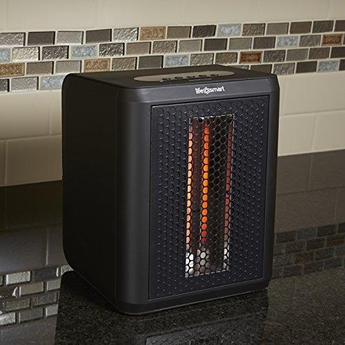 Lifesmart Mcht1120us Tabletop Infrared Heater Fan Black