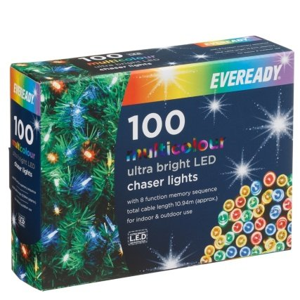 Chaser Christmas Lights.Eveready Ultra Bright Led Chaser Christmas Lights 100pk