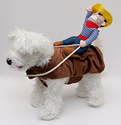 Bucking Bronco Cowboy Dog Costume by Midlee (Small Dog Cowboy Costume)
