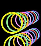 """Toys : Lumistick 100 Count 8"""" Light-Up Premium GlowSticks/Bracelets in Glowsticks - Comes With Bracelet Connectors - Perfect for Birthdays, Parties, Performances, Halloween & More!"""