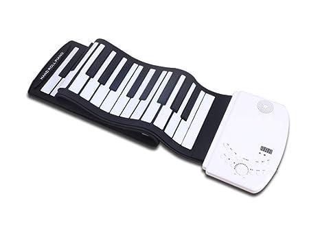 Piano Portátil Flexible De 61 Teclas Con Teclado Suave Plegable, Enviar Un Pedal De Sostenido