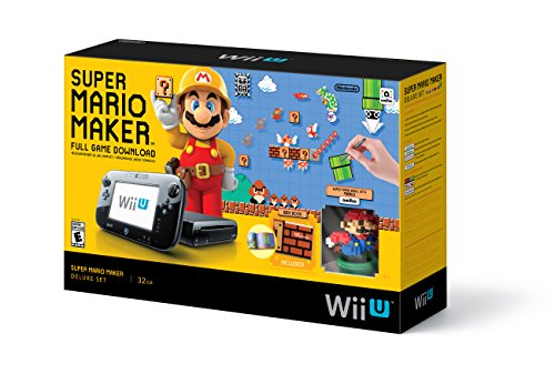 Nintendo Super Mario Maker Deluxe Bundle w/ amiibo + Art Book - Wii Super Mario Maker Deluxe Bundle Edition