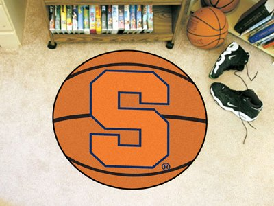 Fanmats Syracuse Orangemen Basketball-Shaped Mat - Syracuse Football Rug