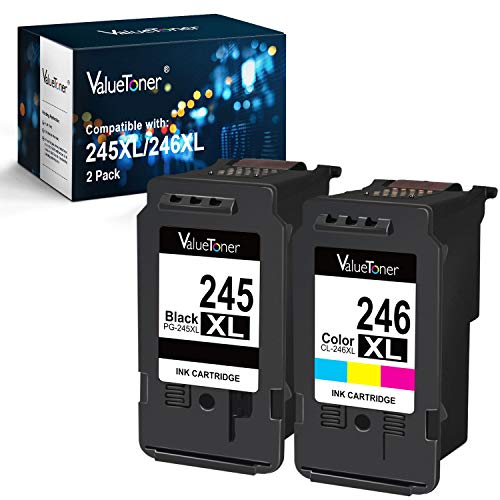 Valuetoner Compatible Ink Cartridge Replacement for Canon Pg-245Xl Cl-246Xl PG-243 CL-244 to use with Pixma MX492 MX490 MG2420 MG2520 MG2522 MG2920 MG2922 MG3022 MG3029 (2-Pack) (Canon Ink Cl246)