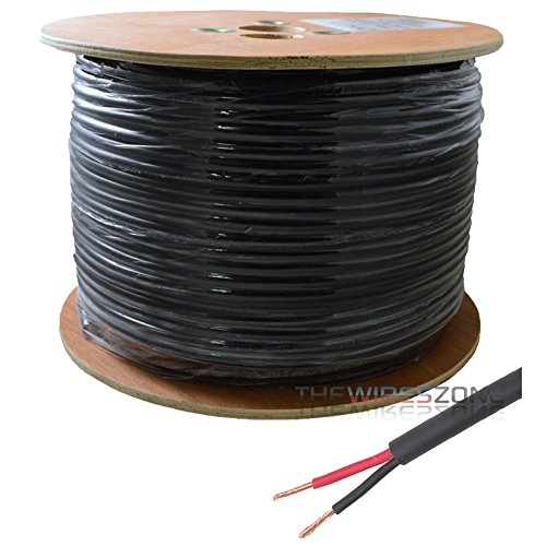 16 AWG Gauge 500ft Outdoor Direct Burial Speaker Wires Cable 16/2 100% Copper by The Wires Zone
