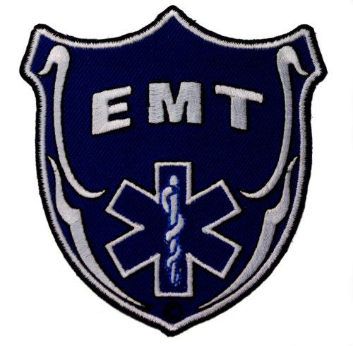 EMT Emergency Medical Technician Badge Blue Iron on Shoulder Patch IVANP1335