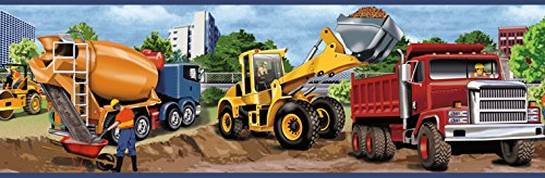 - Chesapeake TOT46461B Elbow Grease Yellow Heavy Machinery Portrait Wallpaper Border