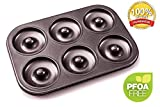 Donut Pan - Premium 6 Cup Non-Stick Donut & Bagel