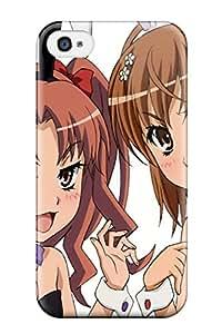 Best 5593144K827440644 bunny animal ears misaka mikoto Anime Pop Culture Hard Plastic iPhone 4/4s cases