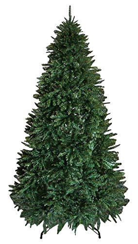 BenefitUSA Artificial PVC Christmas Tree with Metal Steel Base(7.5Ft with 2514Tips)