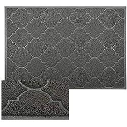 """Cosyearn Large Door Mats,47"""" x 36"""" XL Jumbo Size Outdoor Indoor Entrance Doormat, Waterproof, Easy Clean, entryway Rug,Front Doormat Inside Outside Non Slip. (Grey)"""