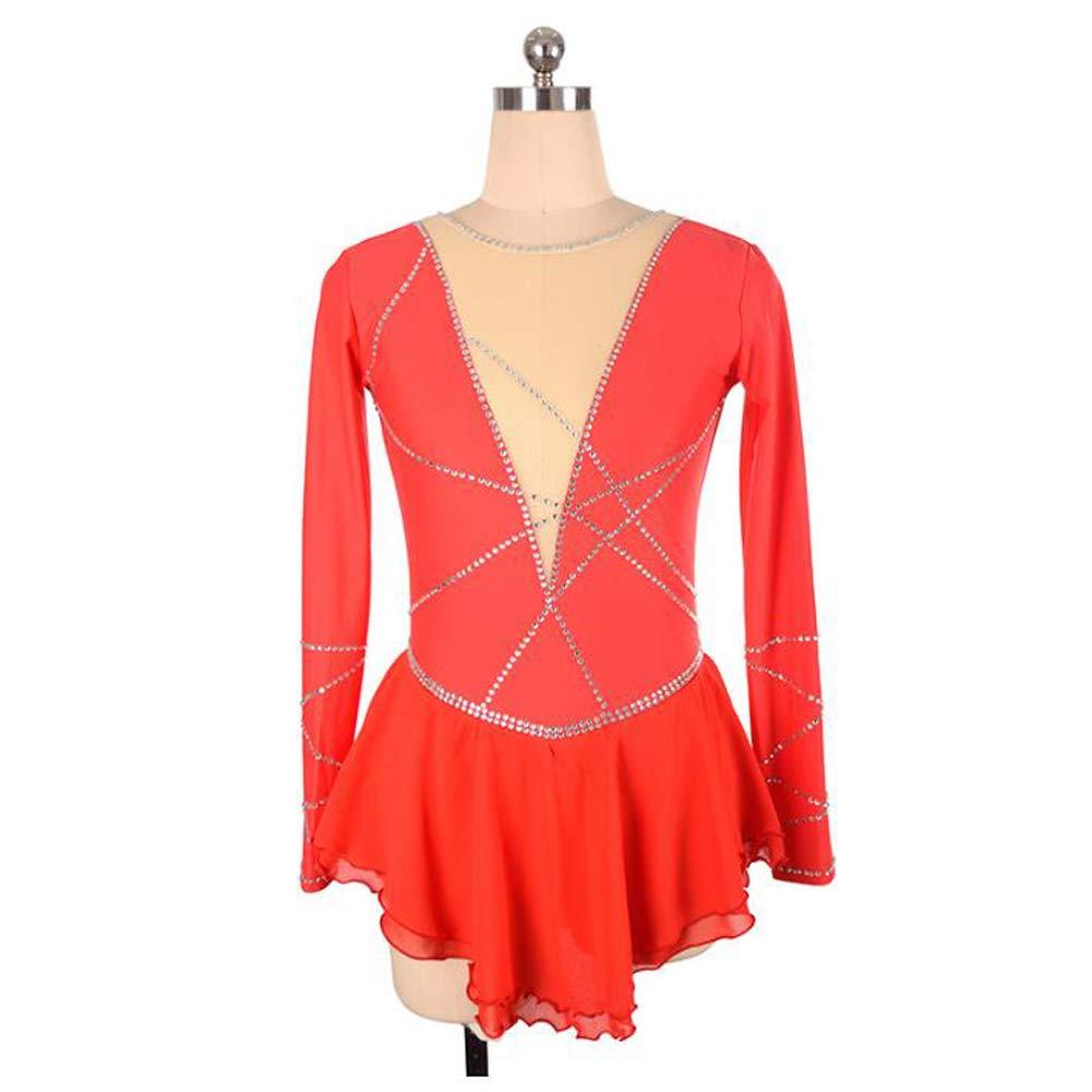 XIAOY Eiskunstlau Fkleidung Fkleidung Fkleidung Langä Rmelige Eiskun Stlauf Kleid für Mädchen Frauen Wettbewerb Kostüm B07NYHTBZC Bekleidung Qualität 991137
