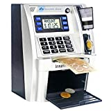 FSMY Canadian Dollars ATM Savings Piggy Money Bank Machine with Coins Identification for Kids,Electronic Digital Coin Box with Password