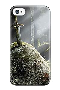 Tpu Case For Iphone 4/4s With Sword In Stone
