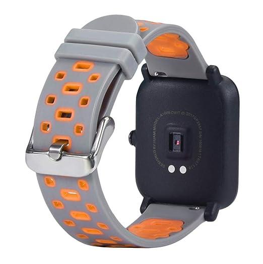 MYQyiyi Suave Correa de Silicona de Reloj para Xiaomi Huami Amazfit Bip Youth Watch