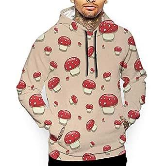 Hoodies Sweatshirt Autumn Winter Mushroom, Amanita Toxic