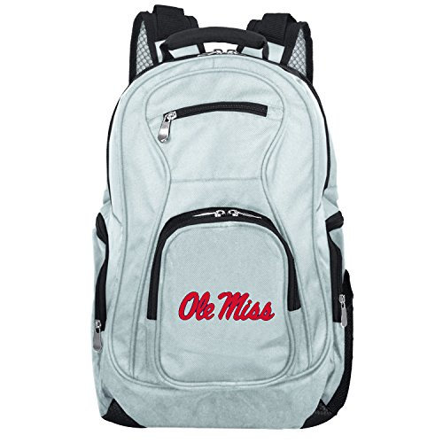 NCAA Mississippi Ole Miss Rebels Voyager Laptop Backpack, 19-inches, Grey