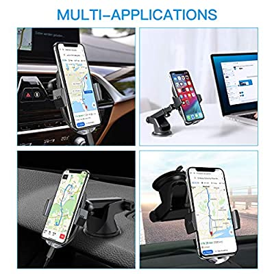 Wireless Car Charger Mount, 10W 7.5W Qi Fast Charging Auto-Clamping Air Vent Dashboard Phone Holder Stand for Car Compatible with iPhone XR/XS Max/XS/X/8/8 Plus, Samsung S10 /S10+/S9 /S9+ and More