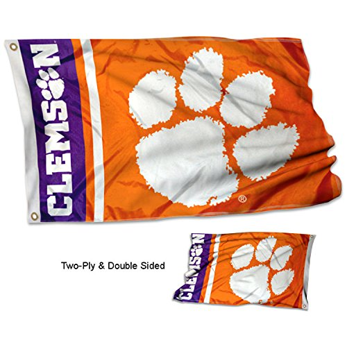 College Flags and Banners Co. Clemson University Tigers Double Sided Flag